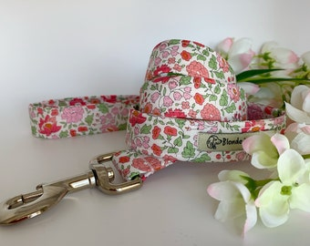 Liberty Dog Lead, D'Anjo Pink, Floral Leash