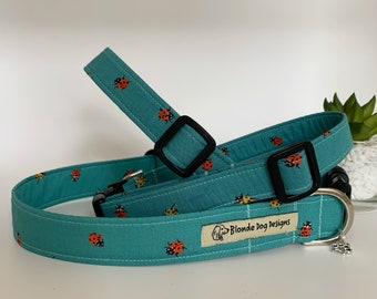 Ladybird Dog Collar, or, Ladybird Dog Lead, Little Ladybird