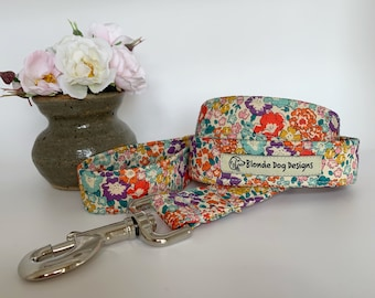 Liberty Dog Lead, Michelle, Floral Dog Lead