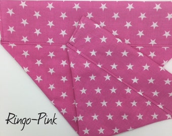 Stars Dog Bandana, Ringo Pink, Luxury Dog Neckerchief