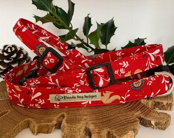 Christmas Dog Collar, Festive Berries, Festive Collar