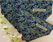 Liberty Dog Bandana, Petal Bud Blue, Floral Neckerchief