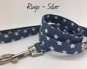 Star Dog Lead, Ringo Silver, Stars Dog Leash