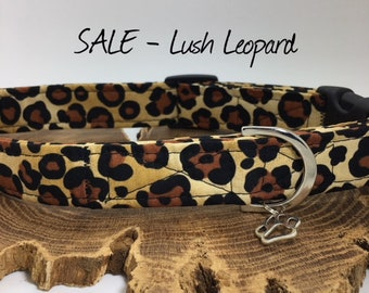 Sale Dog Collar, Lush Leopard, Animal Print Collar