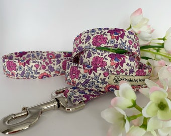 Liberty Dog Lead, D'Anjo Lilac, Floral Leash