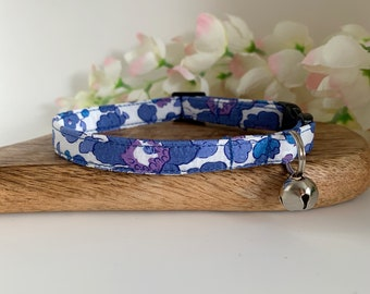 Liberty Cat Collar, Betsy Blue, Floral Collar