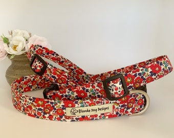 Liberty Dog Collar, Betsy-Ann, Floral Dog Collar