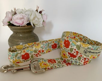 Liberty Dog Lead, D'Anjo Marigold, Floral Leash