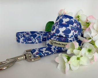 Liberty Dog Lead, Betsy Blue, Floral Dog Lead