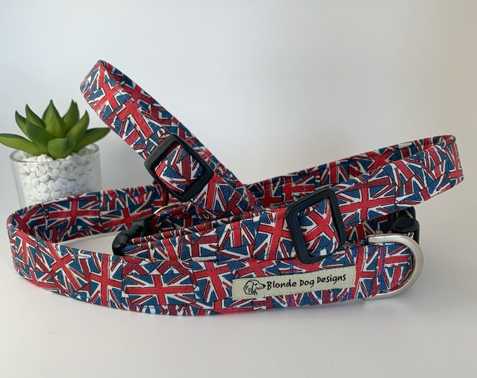 Featured listing image: Union Jack Dog Collar, Jack, Flags Dog Collar