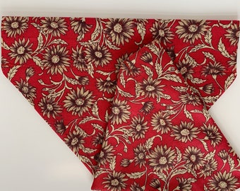Floral Dog Bandana, Scarlet Daisy, Luxury Dog Neckerchief