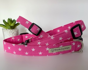 Star Dog Collar, Ringo Pink, Luxury Dog Collar