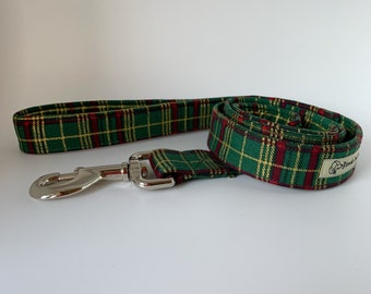Tartan Dog Lead, Elegant Tartan, Green Dog Leash