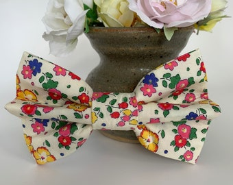 Liberty Dog Bow, Ella & Libby, Floral Bow Tie