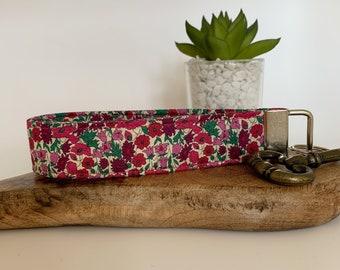 Liberty Key Fob, Petal & Bud Pink, Floral Key Ring