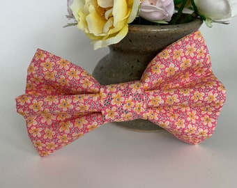 Liberty Dog Bow, Speckle, Floral Bow Tie