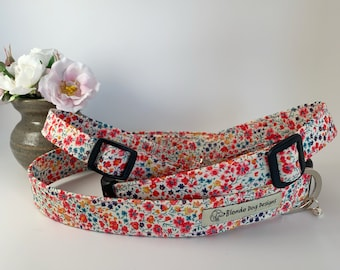 Liberty Dog Collar, Phoebe Coral, Floral Dog Collar