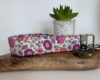 Liberty Key Fob, D'Anjo Lilac, Floral Key Ring