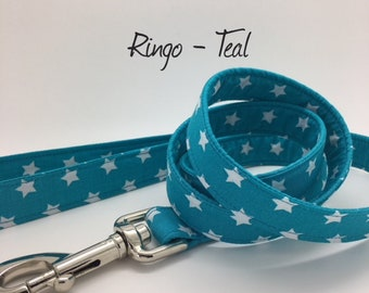 Star Dog Lead, Ringo Teal, Stars leash