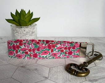 Liberty Key Fob, Petal & Bud, Floral Key Ring