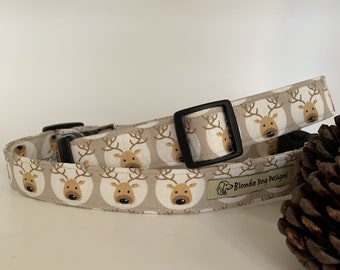Christmas Dog Collar, Cupid, Reindeer Collar, Festive Dog Collar