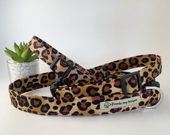Leopard Dog Collar, Leopardess, Animal Print Collar