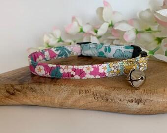 Liberty Cat Collar, Alice's Patchwork, Floral Collar
