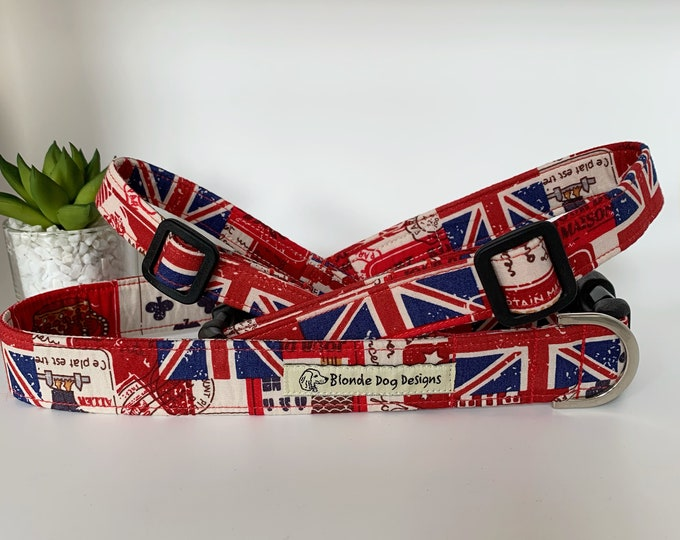 Featured listing image: Union Jack Collar, or, Union Jack Lead, Britannia