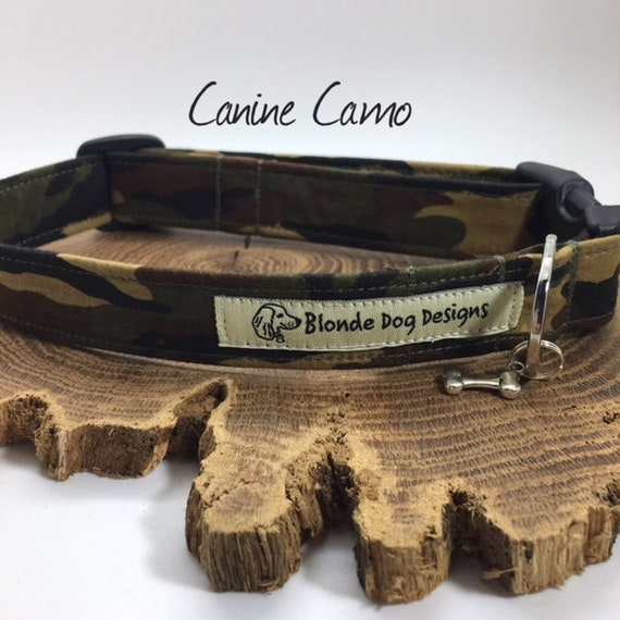 Camouflage Dog Collar, or, Camouflage Dog Lead, Canine Camo, Camouflage Lead, Camo Dog Collar
