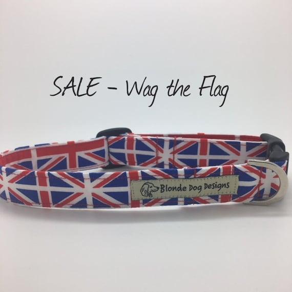 Union Jack Dog Collar, Wag the Flag, Flag Dog Collar