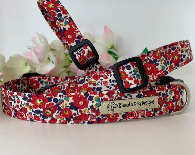 Featured listing image: Liberty Dog Collar, Betsy-Ann, Floral Dog Collar