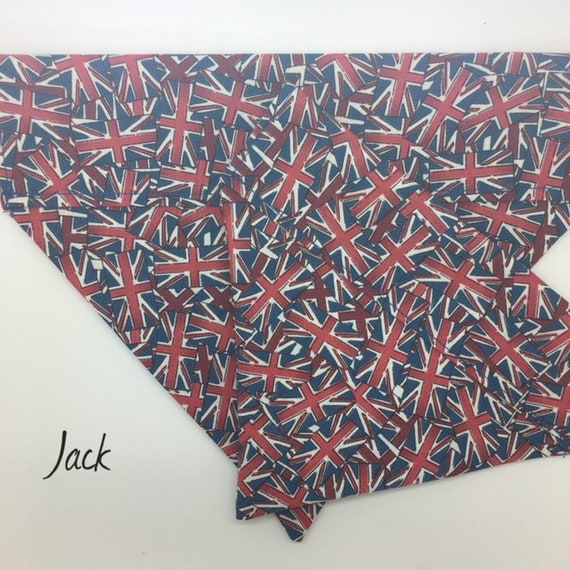 Union Jack Dog Bandana, Jack, Union Jack Bandana, Fun Dog Bandana, Flags Dog Bandana, Luxury Dog Bandana.