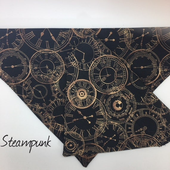 Steampunk Bandana, Goth Neckerchief, Steampunk Neckerchief,