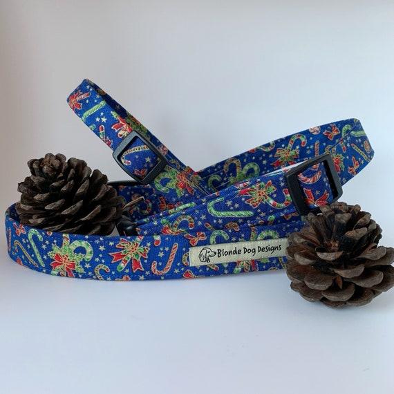Candy Cane Collar, Christmas Dog Collar, Festive Collar