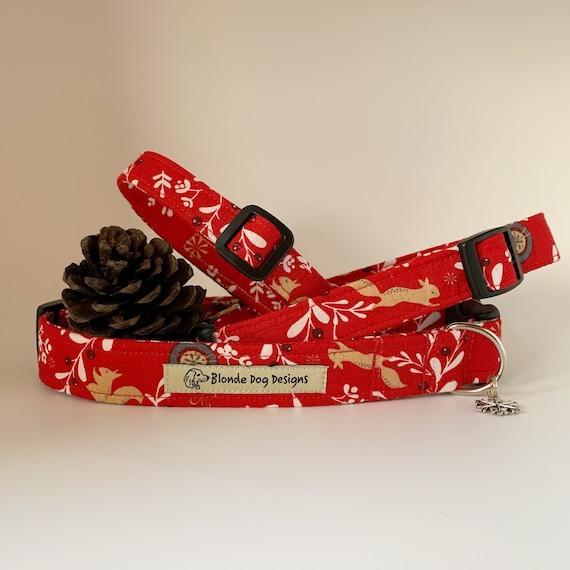 Christmas Dog Collar, Festive Berries, Festive Dog Collar
