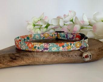 Liberty Cat Collar, Michelle, Floral Collar