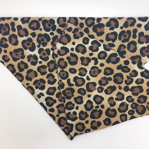 Leopard Dog Bandana, Leopardess, Luxury Dog Bandana