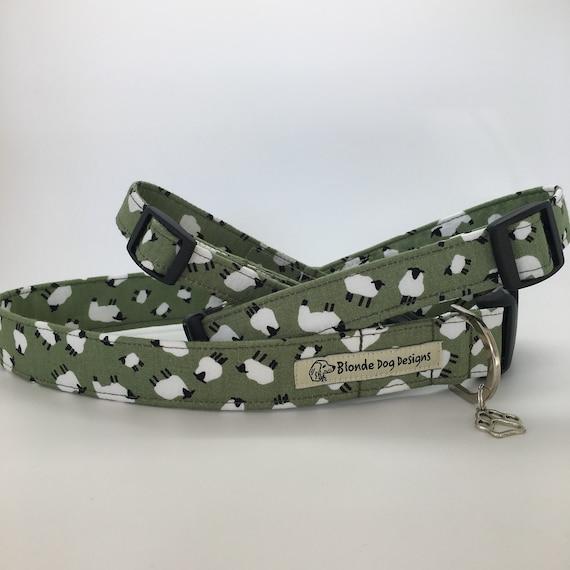 Sheep Dog Collar, or, Sheep Dog Lead, Sheepish Field Green