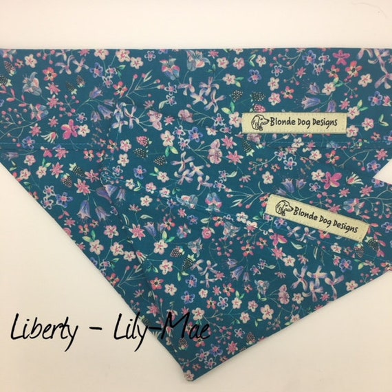 Liberty Dog Bandana, Floral Dog Bandana, Lily-Mae, Pretty Dog Bandana, Luxury Dog Bandana, Liberty London Bandana