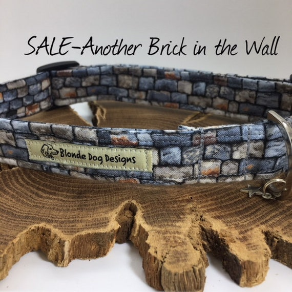 Sale Dog Collar Another Brick In The Wall Grey