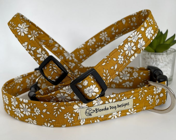 Featured listing image: Liberty Dog Collar, Capel, Floral Dog Collar