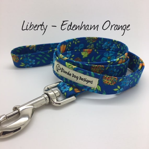 Liberty Dog Lead, Edenham Orange, Floral Dog Lead