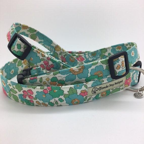 Liberty Dog Collar, Liberty Collar, Floral Dog Collar, Betsy Green, Pretty Dog Collar, Liberty Print Collar