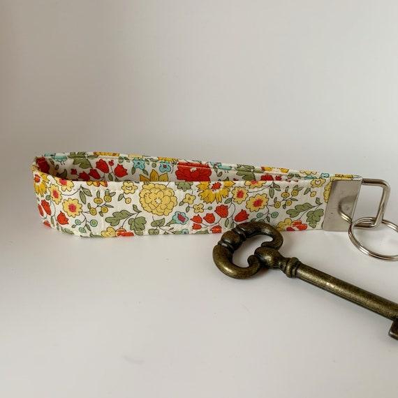 Liberty Key Fob, D'Anjo Marigold, Liberty Key Ring, Floral Key Fob, Floral Key Ring