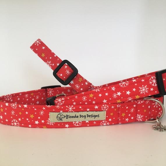 Christmas Dog Collar, Snowflake, Festive Dog Collar