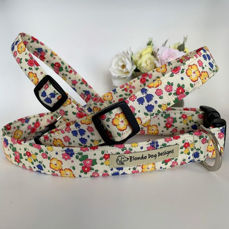 Liberty Dog Collar Ella & Libby Floral Dog Collar image 0