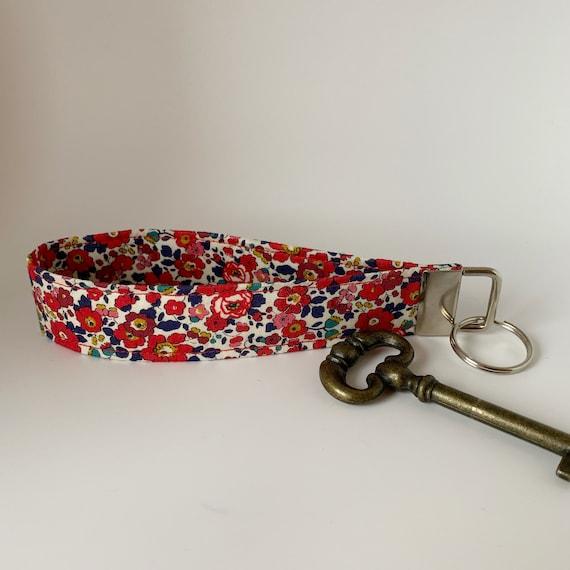 Liberty Key Fob, Betsy-Ann, Liberty Key Ring, Floral Key Fob, Floral Key Ring