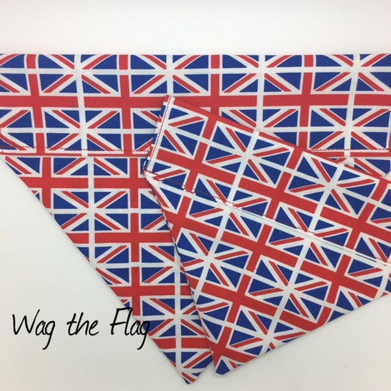 Union Jack Dog Bandana, Wag the Flag, Flag Neckerchief