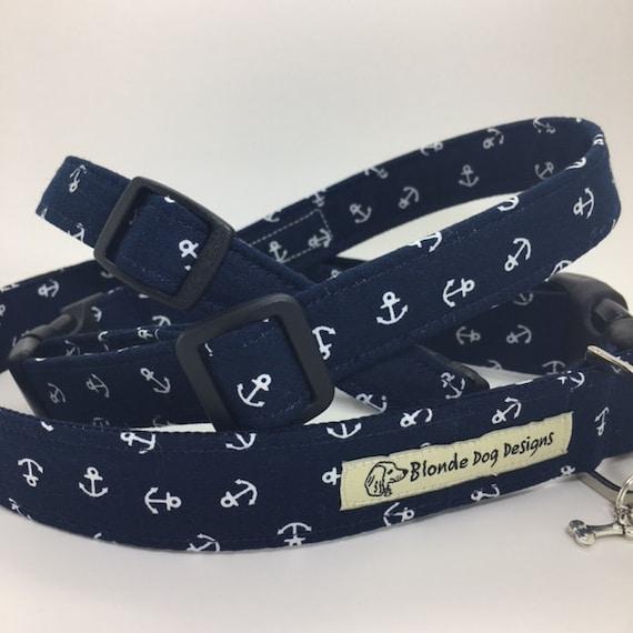 Anchor Dog Collar, Ahoy There, Nautical Dog Collar