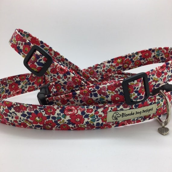Liberty Dog Collar, Betsy-Ann, Liberty Print Dog Collar, Floral Dog Collar, Liberty London Collar, Liberty Print Collar